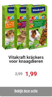 Vitakraft knaagdierkrackers 2in1 voor € 1.99