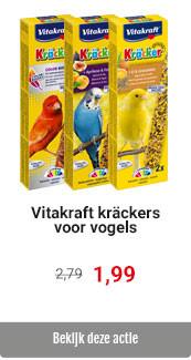 Vitakraft vogelkrackers 2in1 voor € 1.99