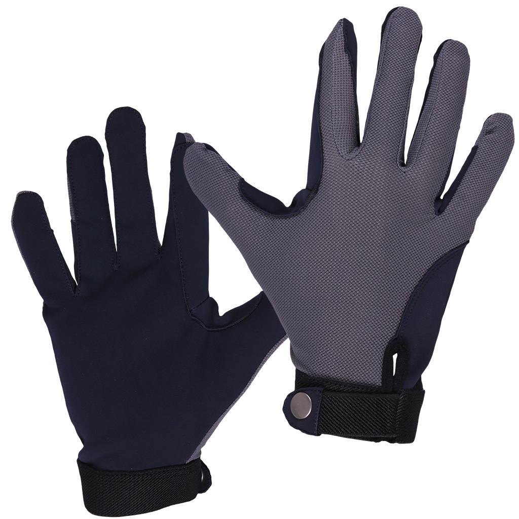 QHP handschoen Mesh grijs/navy
