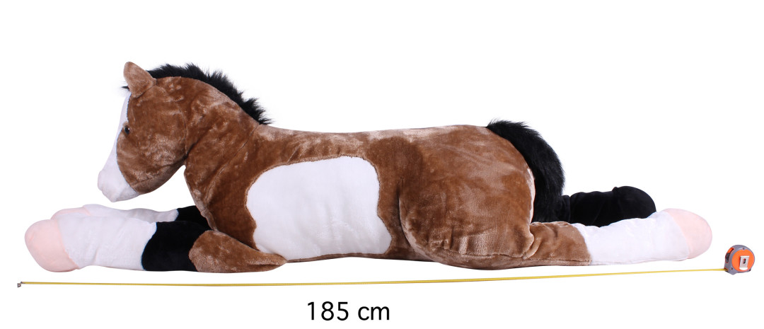QHP paardenknuffel Star bruin L