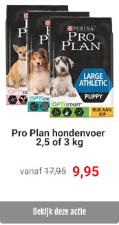Pro Plan 3 kg voor 9,95
