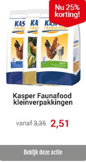 Kasper Faunafood Hobby- en Goldline 25% korting