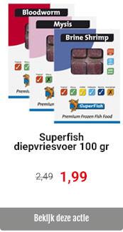 SuperFish diepvriesvoer 100 gr voor 1,99