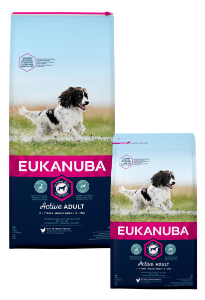 Eukanuba hondenvoer Active Adult Medium Breed 12 kg