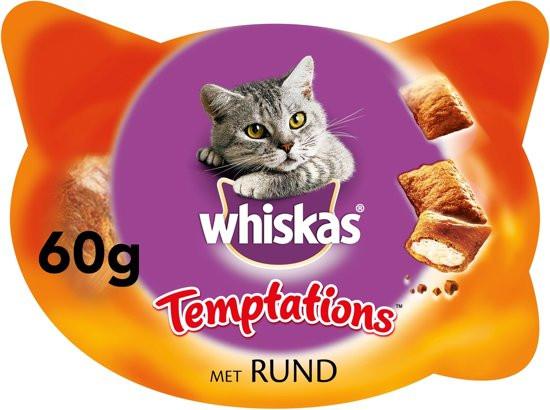 Whiskas Temptations rundvlees 60 gr