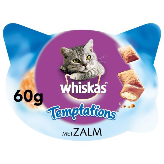 Whiskas Temptations zalm 60 gr