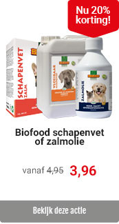 Biofood vetten 20% korting