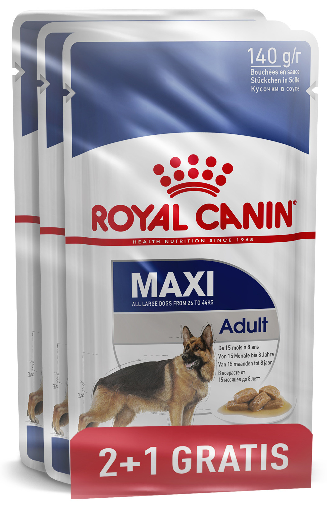 Royal Canin Maxi Adult 140 gr 2+1