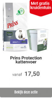 Prins kattenvoer met gratis kruidentuin