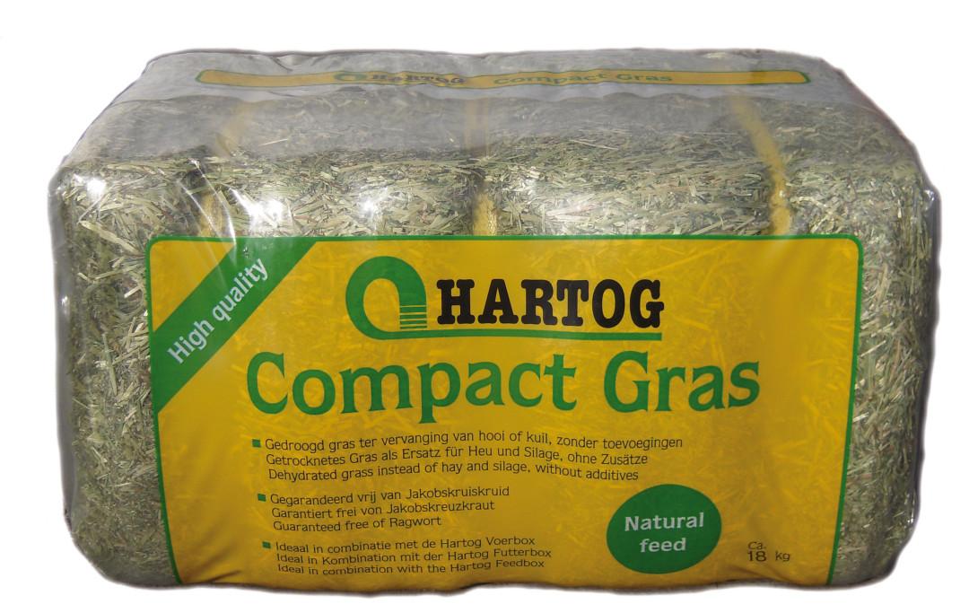 Hartog Compact gedroogd gras 18 kg