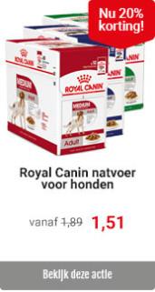 Royal Canin hondenvoer met 20% korting