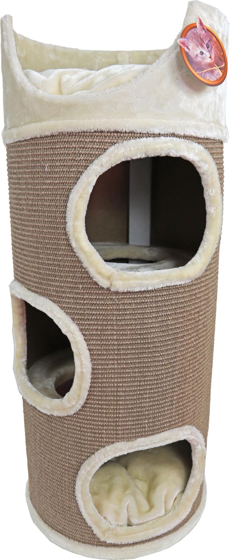 Krabton sisal met zit<br>3-gaats taupe/beige<br>100 cm