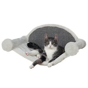 TRIXIE Hangmat voor aan de muur wit/grijs