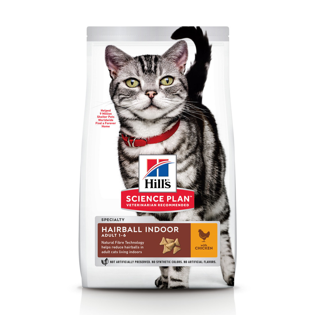 Hill's Science Plan Adult Hairball Indoor kip <br>10 kg