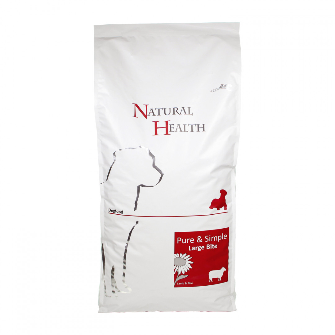 Natural Health Pure & Simple Large Bite lamb 12,5 kg