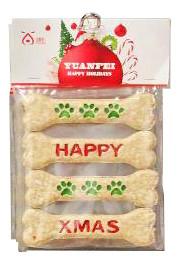 Kerst hondensnack munchy kluifjes 4 st