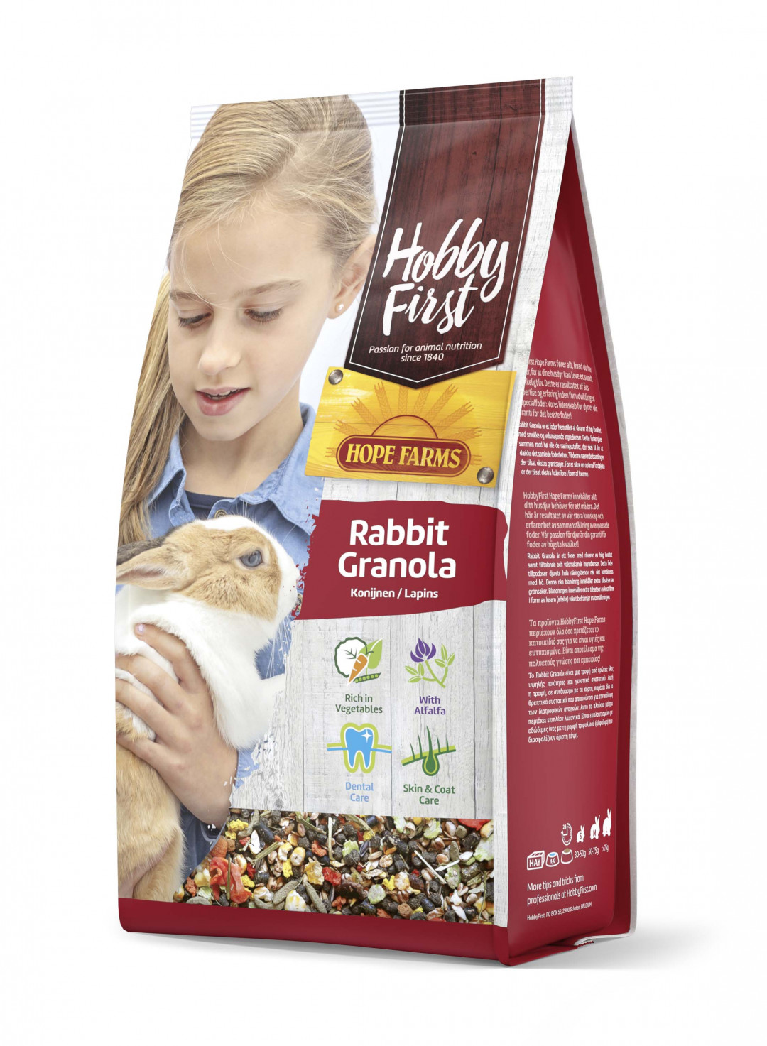 HobbyFirst Hope Farms Rabbit Granola 800 gr
