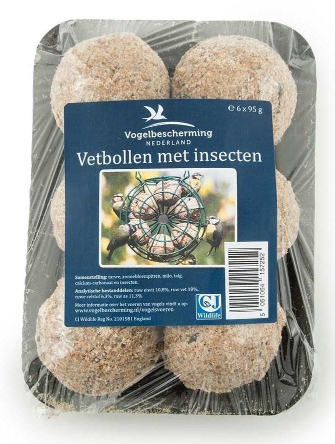 Vogelbescherming Nederland vetbollen met insecten 6 st