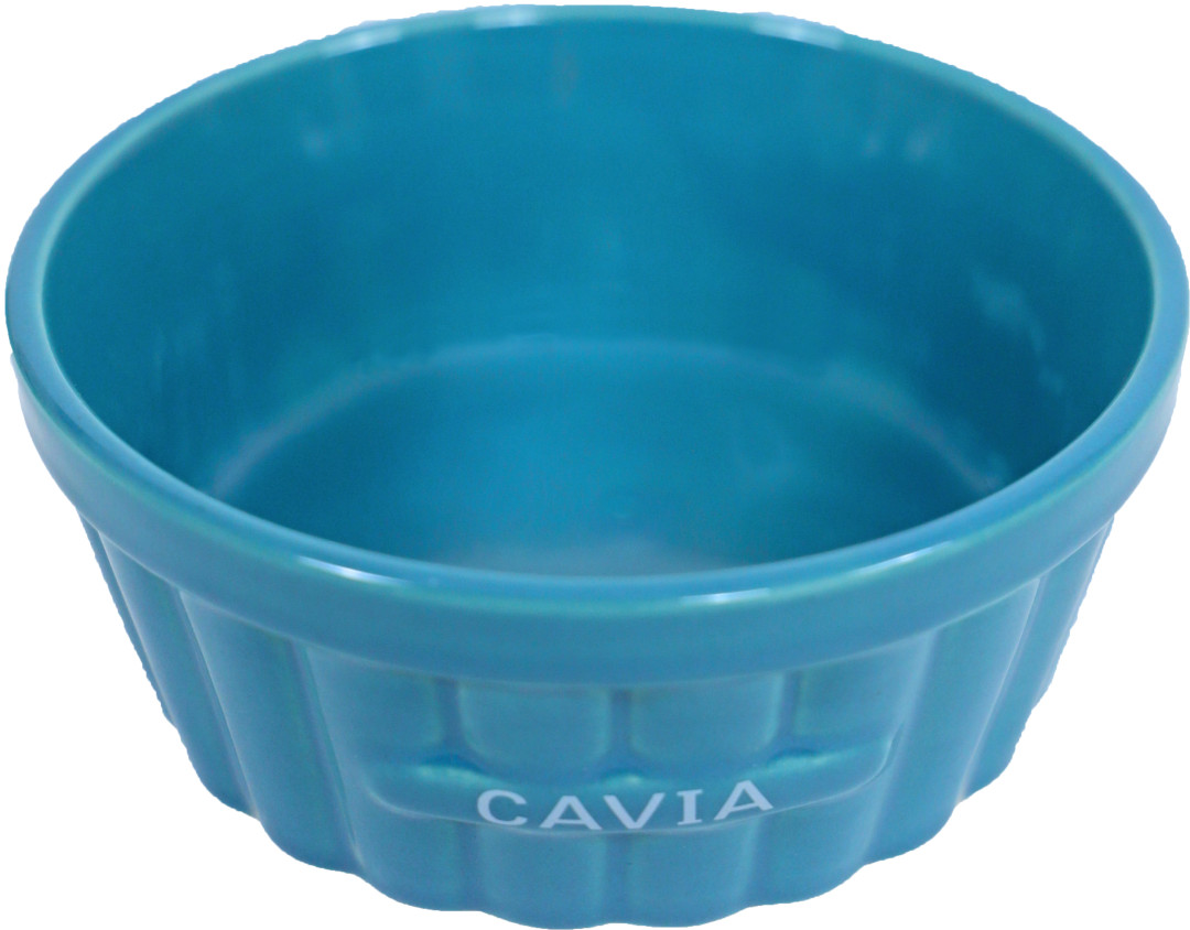Cavia voerbak steen ribbel blauw 12 cm
