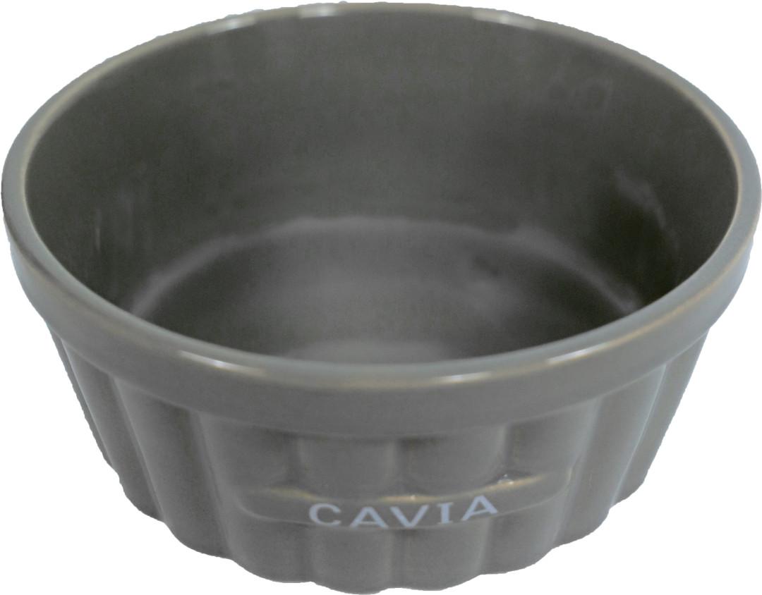 Cavia voerbak steen ribbel taupe 12 cm