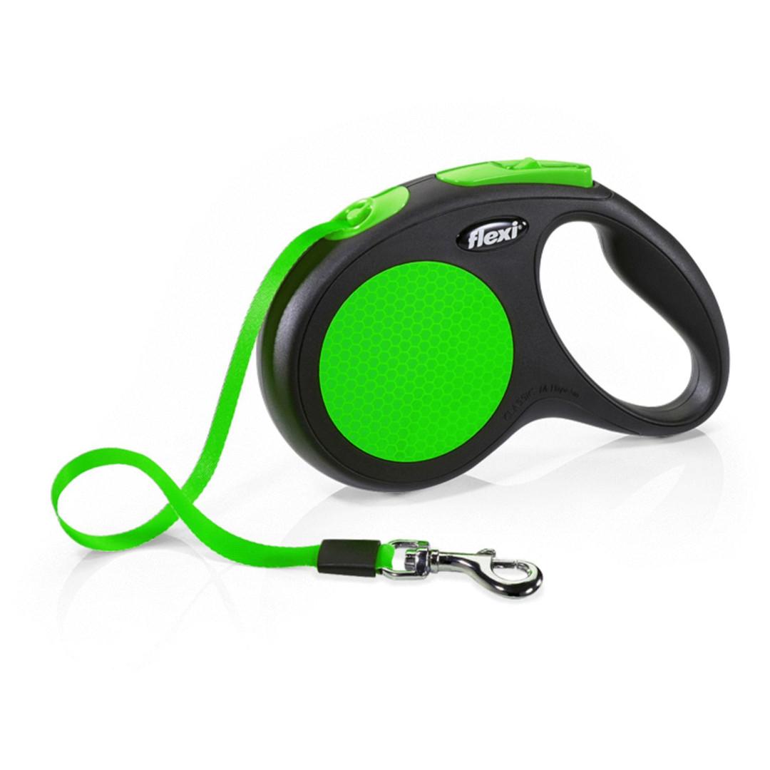 Flexi New Neon met band 5 mtr