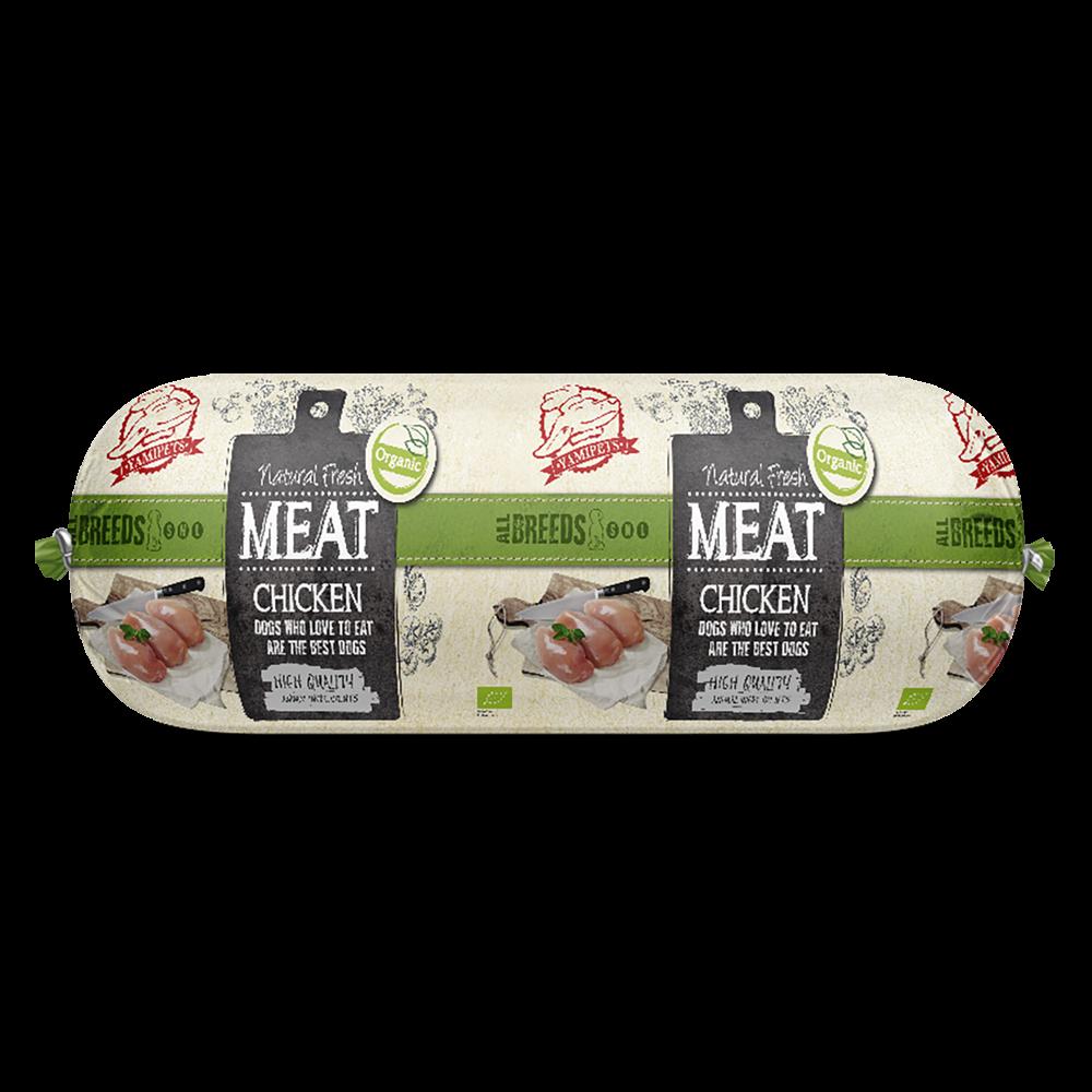 Natural Fresh MEAT Bio. hondenworst chicken 600 gr