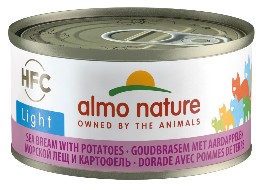 Almo Nature kattenvoer HFC Light brasem en aardappel 70 gr