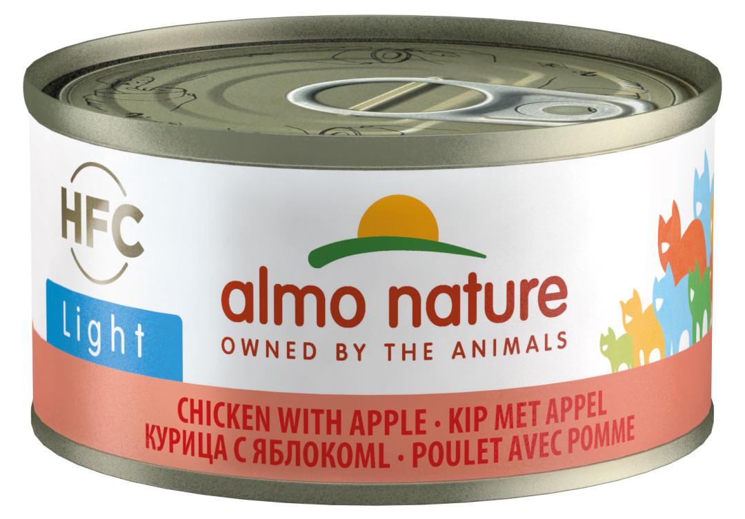 Almo Nature kattenvoer HFC Light kip en appel 70 gr