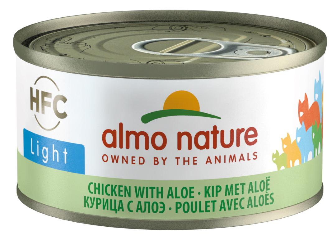 Almo Nature kattenvoer HFC Light kip en aloë vera 70 gr