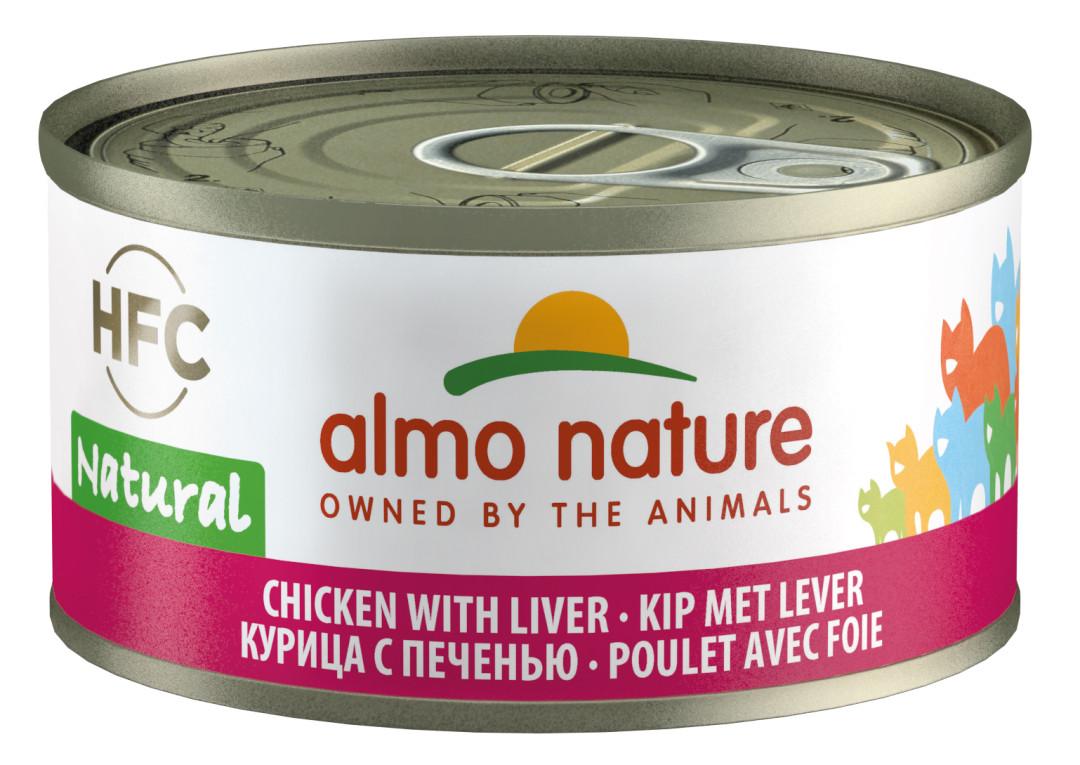 Almo Nature kattenvoer HFC Natural kip en lever 70 gr