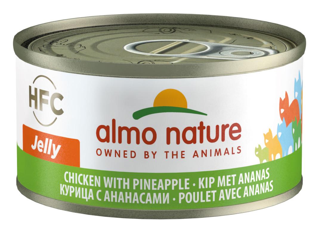 Almo Nature kattenvoer HFC Jelly kip en ananas 70 gr