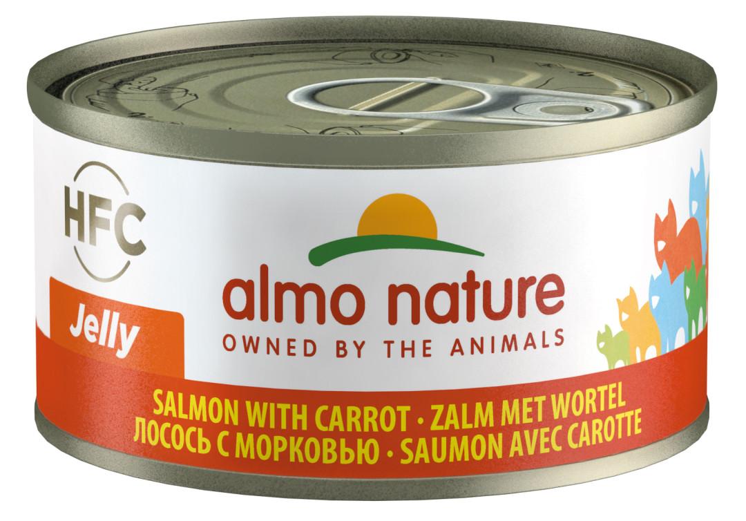Almo Nature kattenvoer HFC Jelly zalm en wortel 70 gr