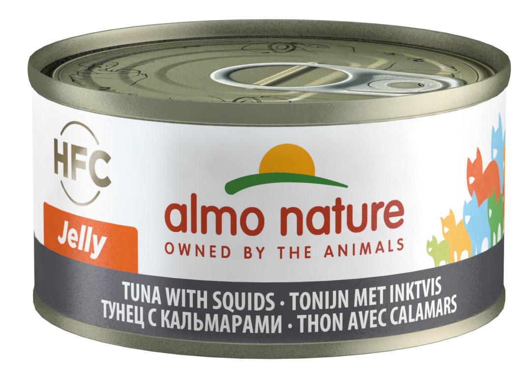 Almo Nature kattenvoer HFC Jelly tonijn en inktvis 70 gr