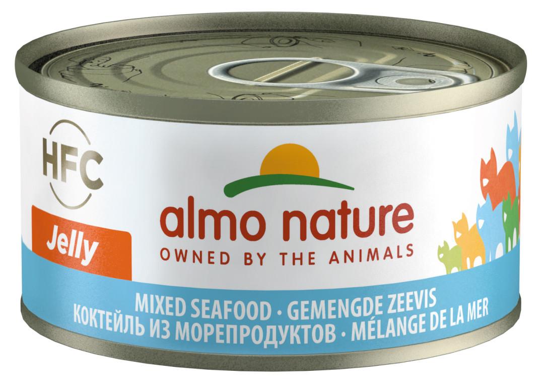 Almo Nature kattenvoer HFC Jelly gemengde zeevis 70 gr