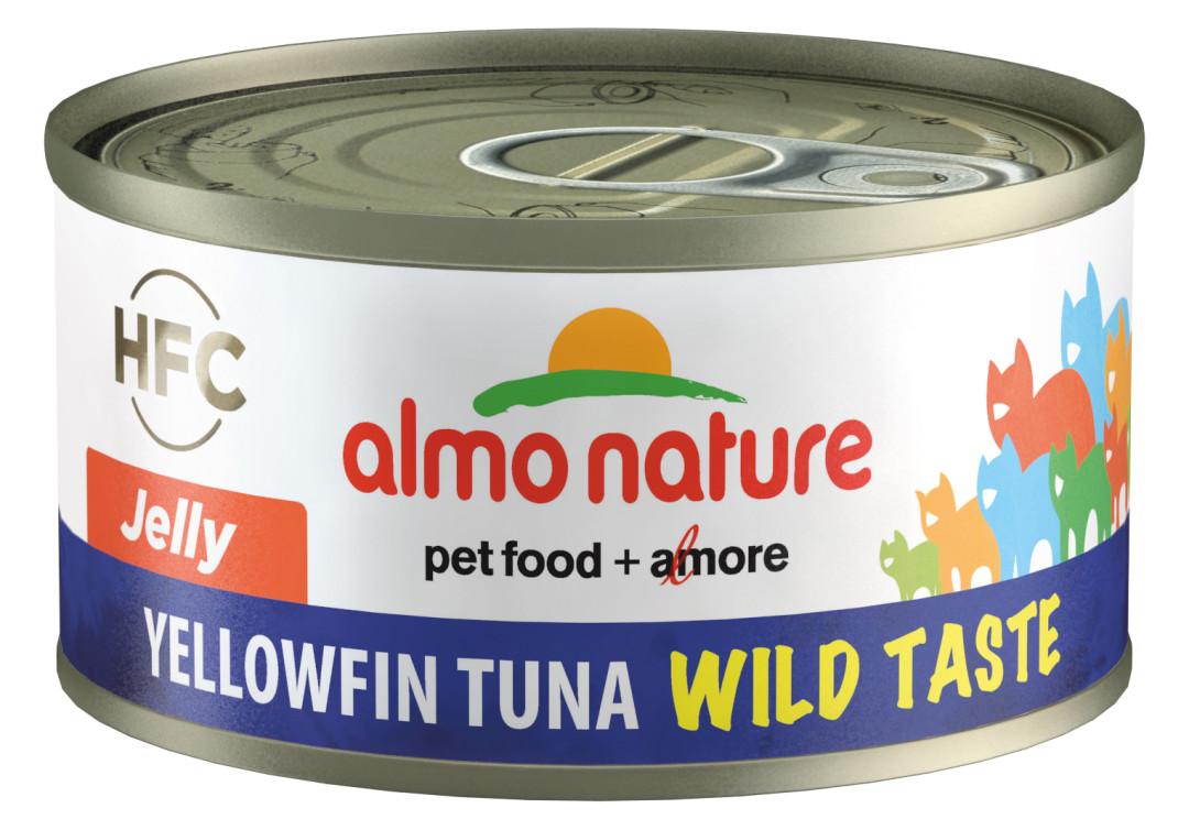 Almo Nature kattenvoer HFC Jelly geelvin tonijn 70 gr