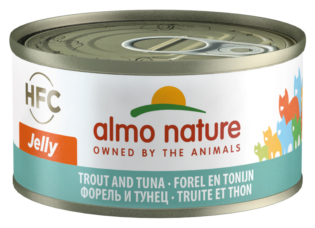 Almo Nature kattenvoer HFC Jelly forel en tonijn 70 gr