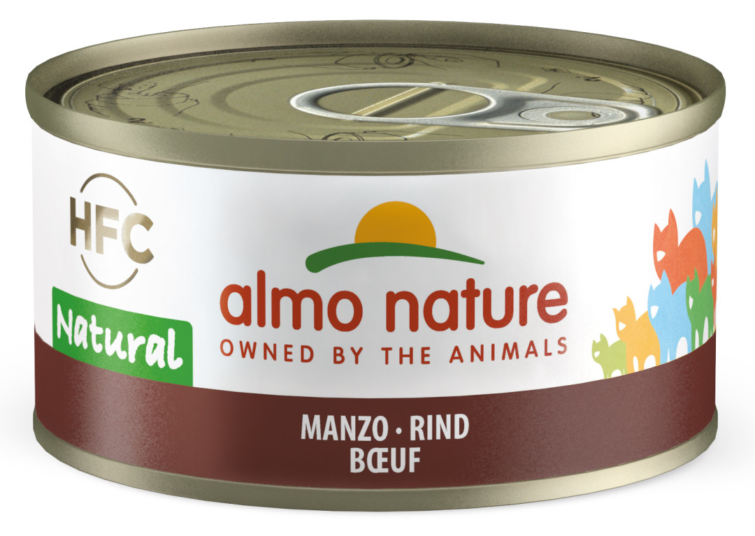 Almo Nature kattenvoer HFC Natural rundvlees 70 gr