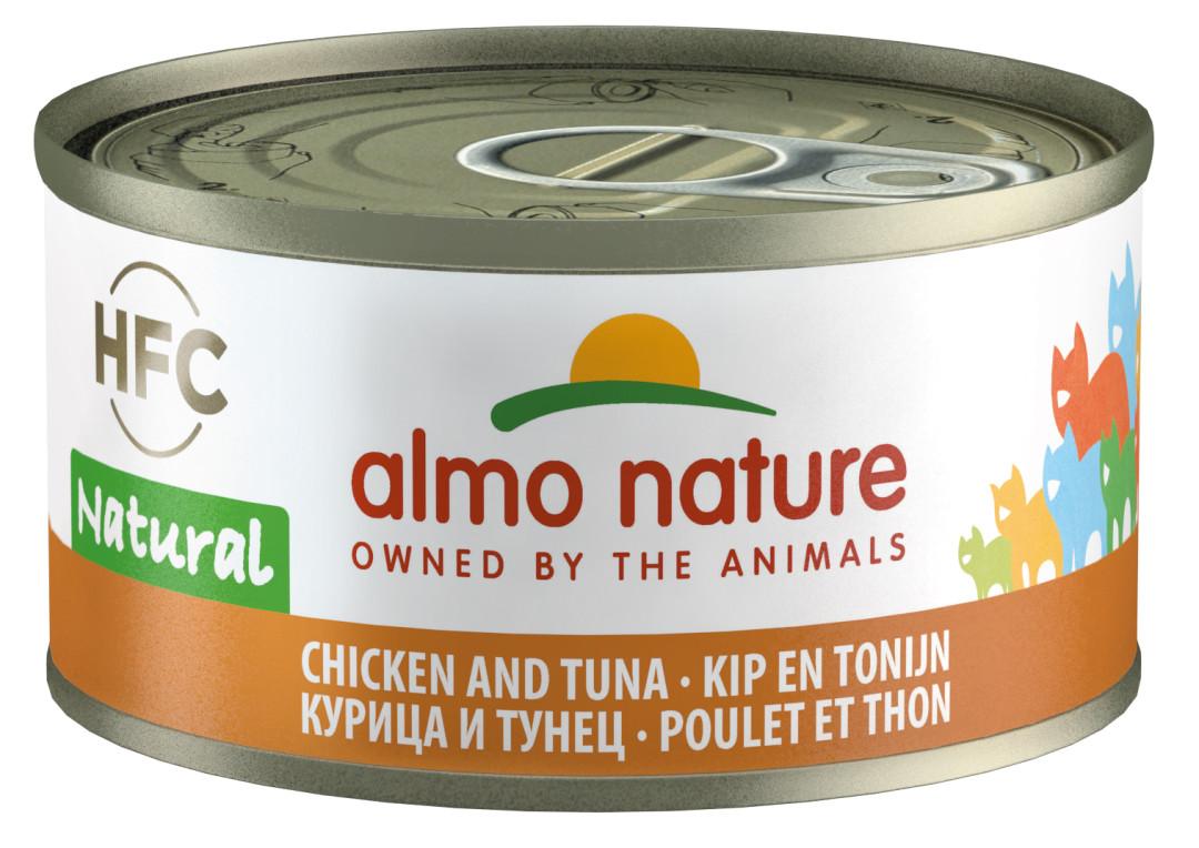 Almo Nature kattenvoer HFC Natural kip en tonijn 70 gr