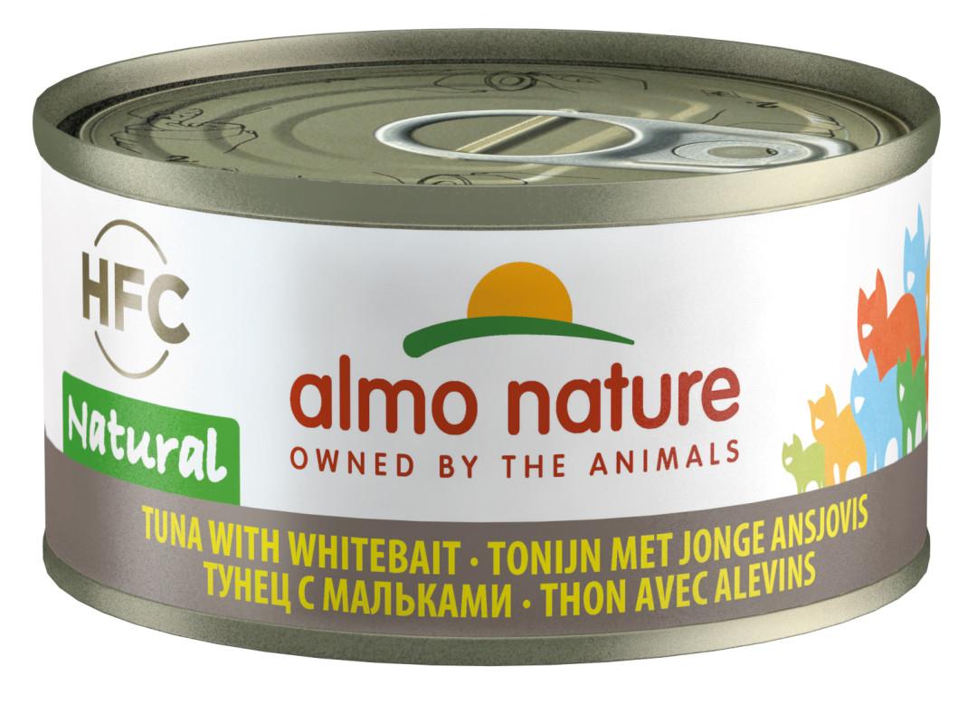 Almo Nature kattenvoer HFC Natural tonijn en jonge ansjovis 70 gr