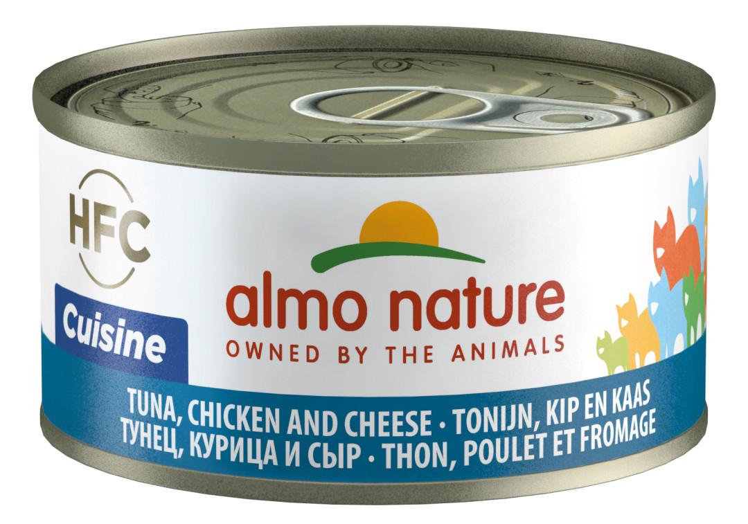 Almo Nature kattenvoer HFC Cuisine tonijn, kip en kaas 70 gr