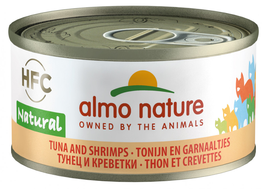 Almo Nature kattenvoer HFC Natural tonijn en garnaal 70 gr