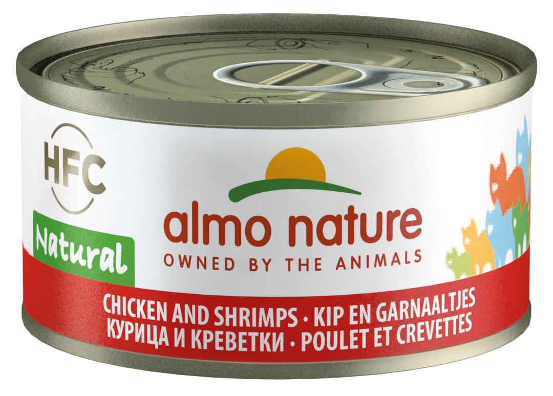 Almo Nature kattenvoer HFC Natural kip en garnaal 70 gr