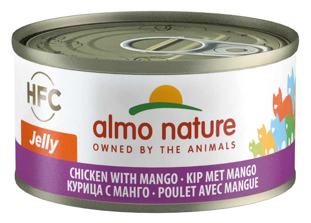Almo Nature kattenvoer HFC Jelly kip en mango 70 gr