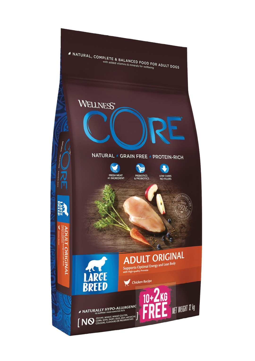 Wellness CORE hondenvoer Large Breed Adult 10 + 2 kg