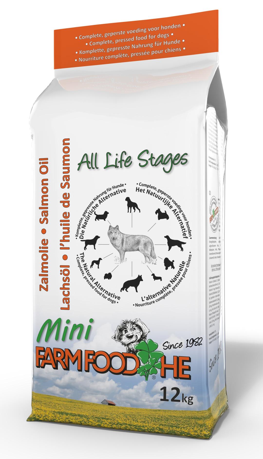 Farm Food hondenvoer HE Zalmolie Mini 12 kg