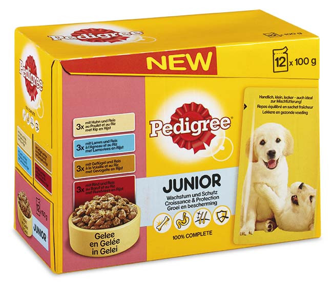 Pedigree hondenvoer Vital Protection in Gelei Junior 12 x 100 gr