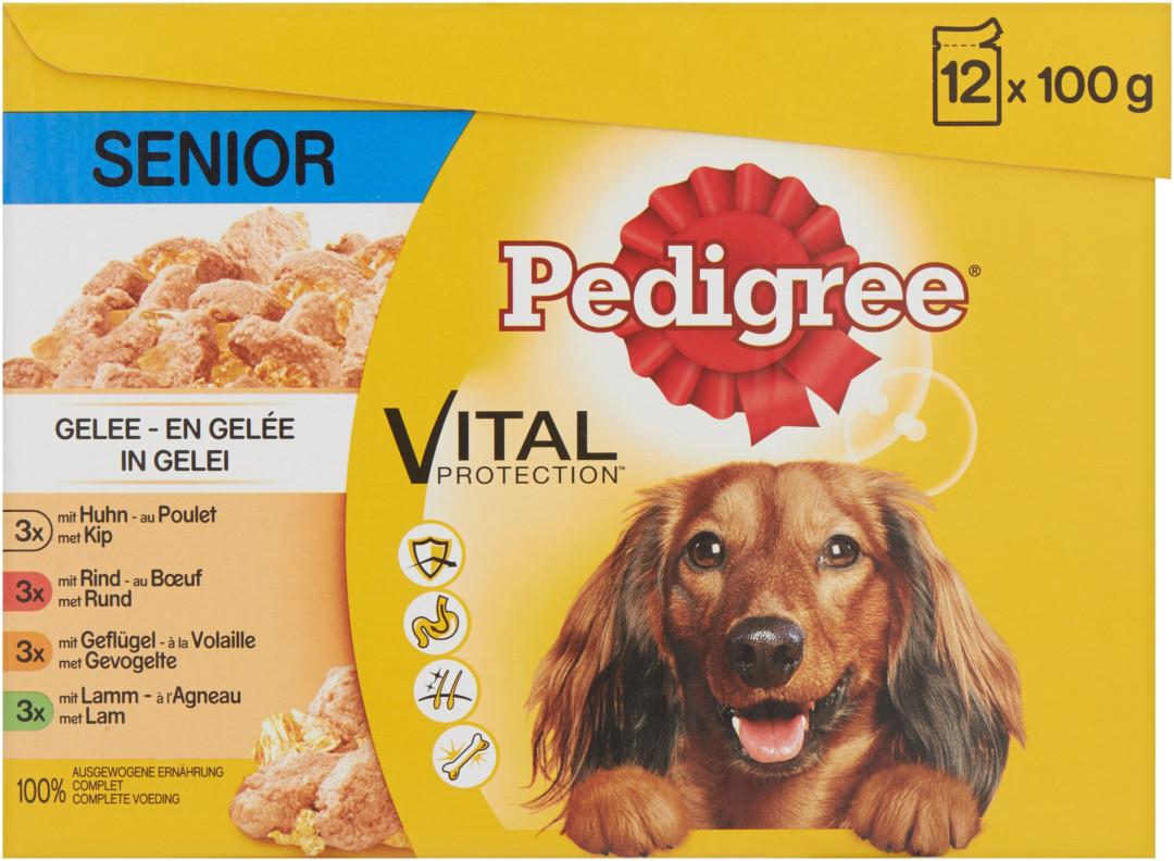Pedigree hondenvoer Vital Protection in Gelei Senior 12 x 100 gr