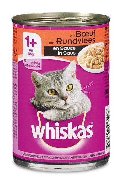 Whiskas kattenvoer Adult saus met rund 400 gr