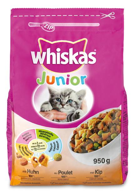 Whiskas kattenvoer Junior kip 950 gr