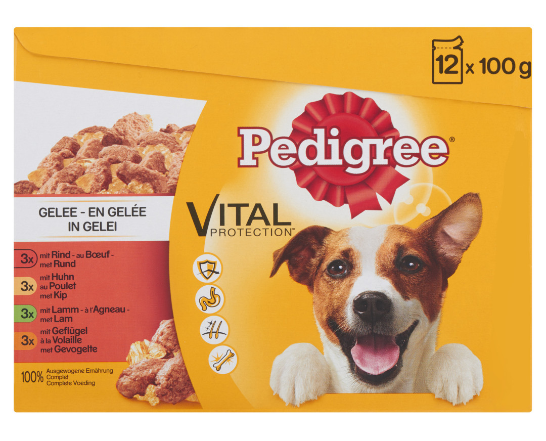 Pedigree hondenvoer Vital Protection in Gelei 12 x 100 gr